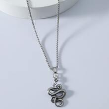 Collar de hombres con diseño de serpiente