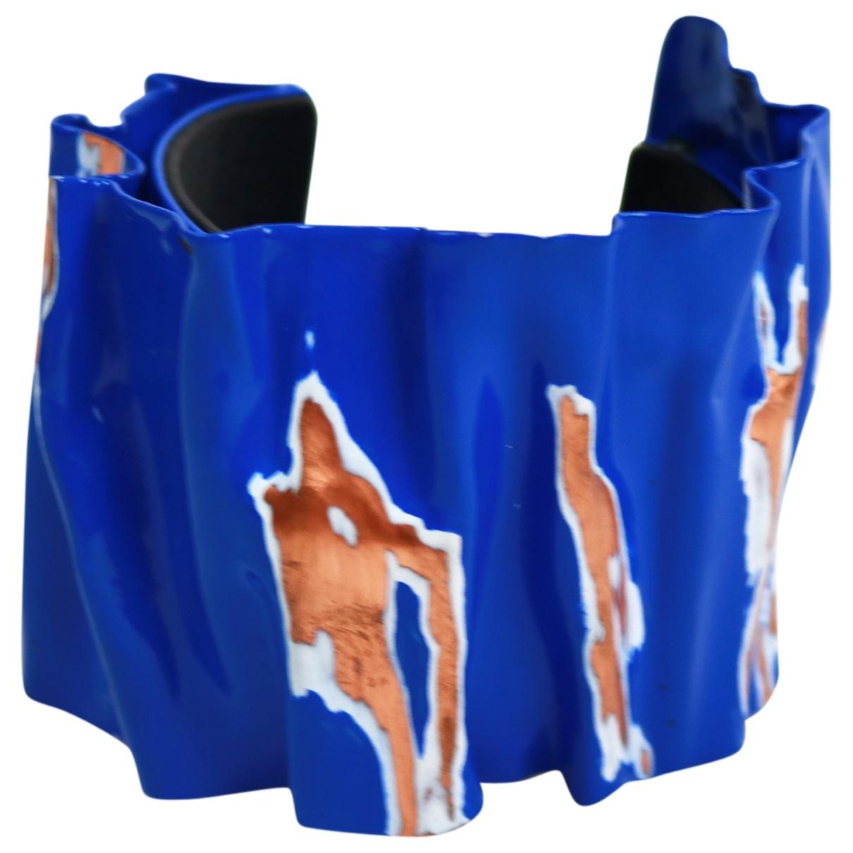 Celine - Bracelet   pour femme en metal - bleu