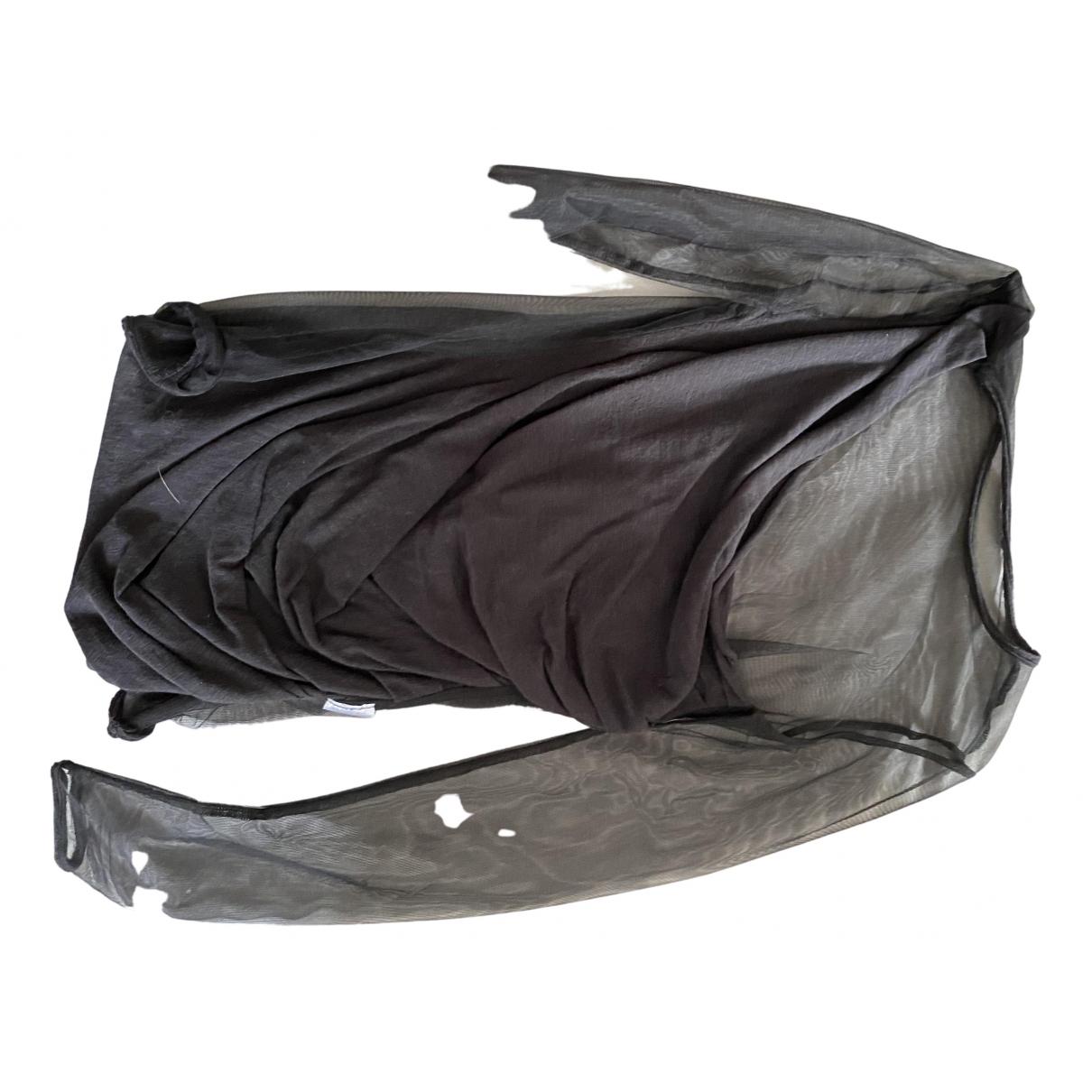 Balmain - Top   pour femme en coton - noir