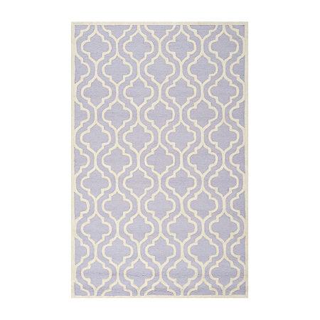 Safavieh Bernard Geometric Hand-Tufted Wool Rug, One Size , Purple
