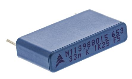 EPCOS 33nF Polypropylene Capacitor PP 1.25 kV dc, 500 V ac ±10% Tolerance Through Hole B32652 Series