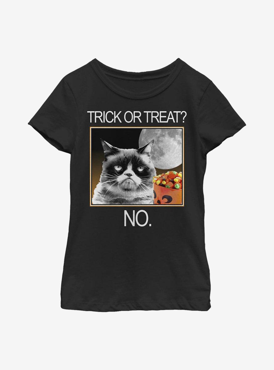 Grumpy Cat Grumpy Hallow Youth Girls T-Shirt