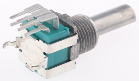 Alps Alpine 2 Gang Rotary Potentiometer with an 6 mm Dia. Shaft - 10kΩ, ±20%, 0.05W Power Rating, Linear, Through Hole
