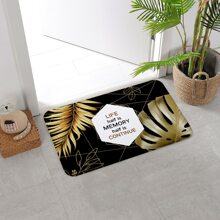 Bodenmatte mit Blatt Muster
