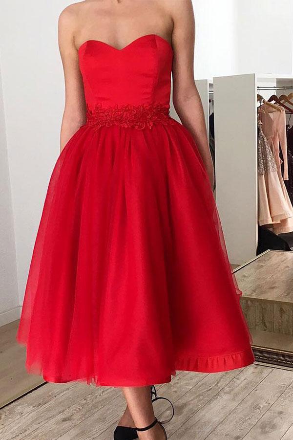 Ruby Sweetheart robe courte de retour longueur cheville avec ceinture