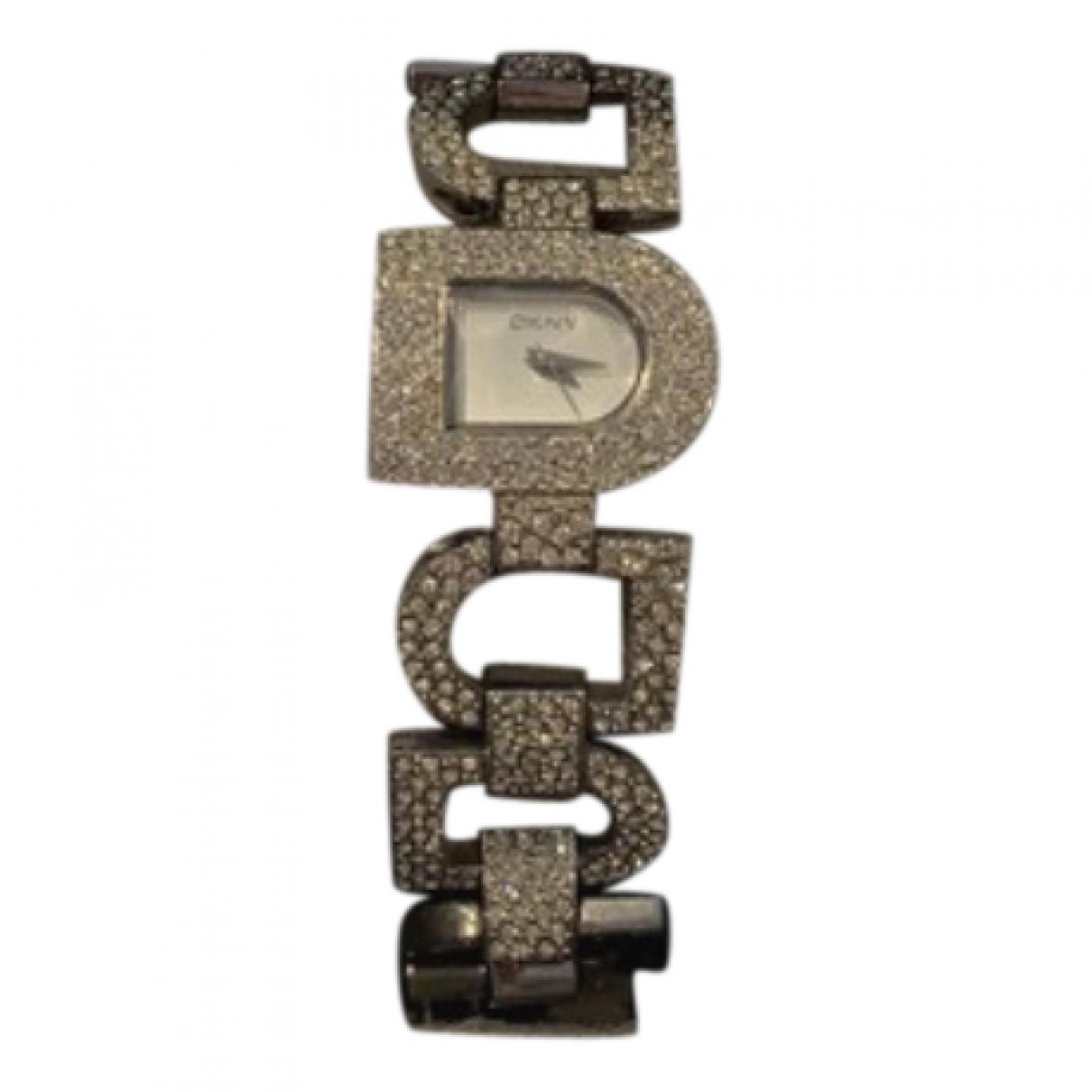 Donna Karan - Montre   pour femme en acier - argente