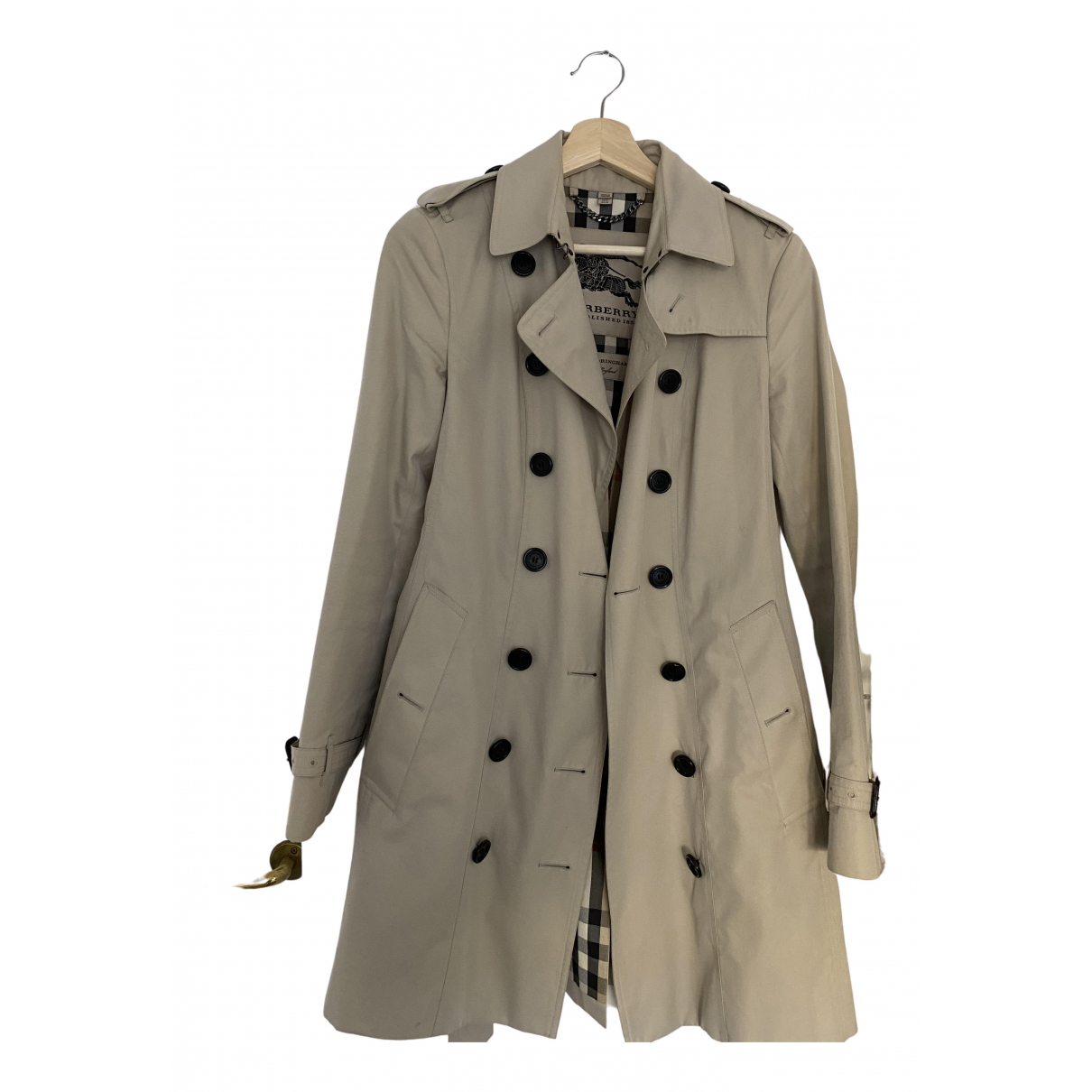 Burberry N Ecru Cotton Trench coat for Women 8 UK