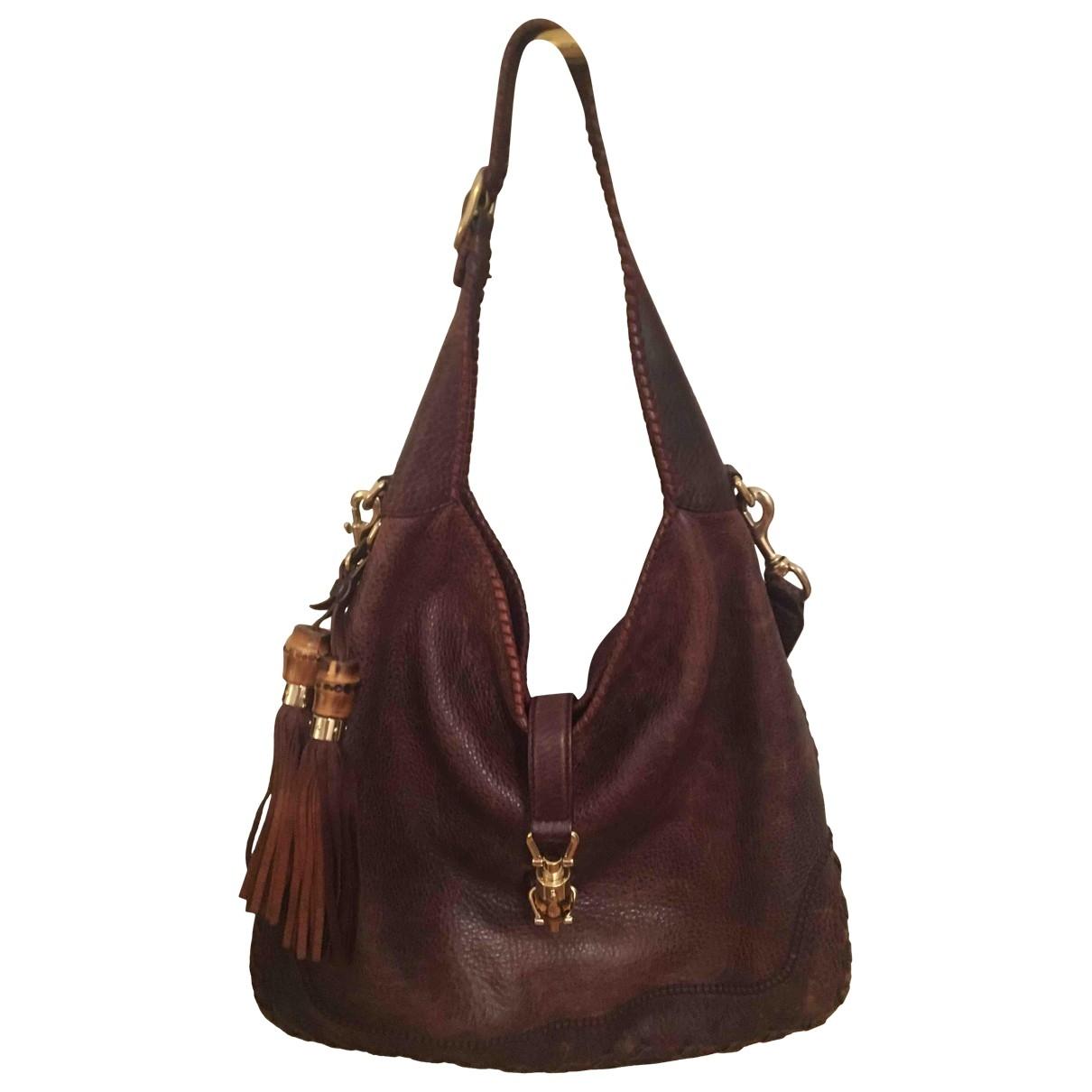 Gucci Jackie Burgundy Leather handbag for Women \N