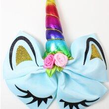 Baby Bow & Flower Decor Hair Clip