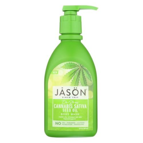 De-Stress Cannabis Sativa Seed Oil Body Wash 30 Oz by Jason Natural Products