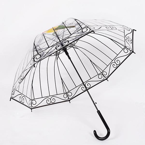 3D BirdcageTransparent Water-Proof Good Quality Design Umbrella