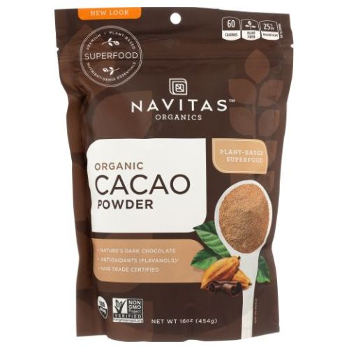 Organic Cacao Powder 16 Oz by Navitas Naturals