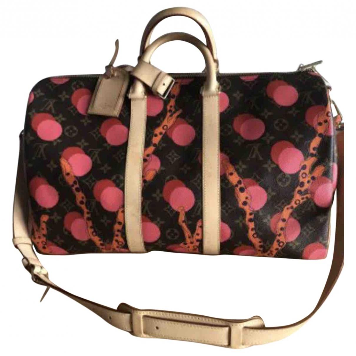 Louis Vuitton Keepall Reisetasche in  Bunt Leinen