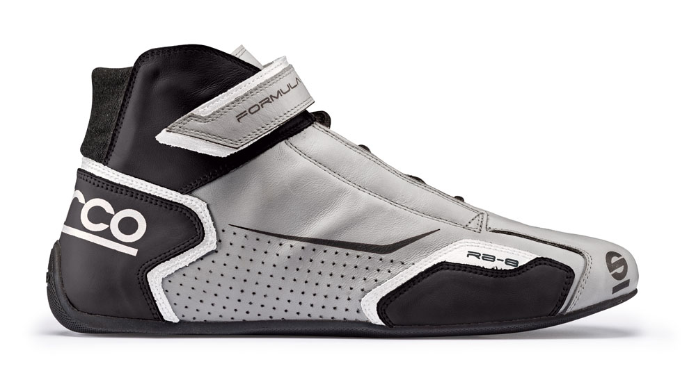 Sparco 00123639SINR Silver and Black Formula RB-8 Driving Shoes EU 39 | US 5