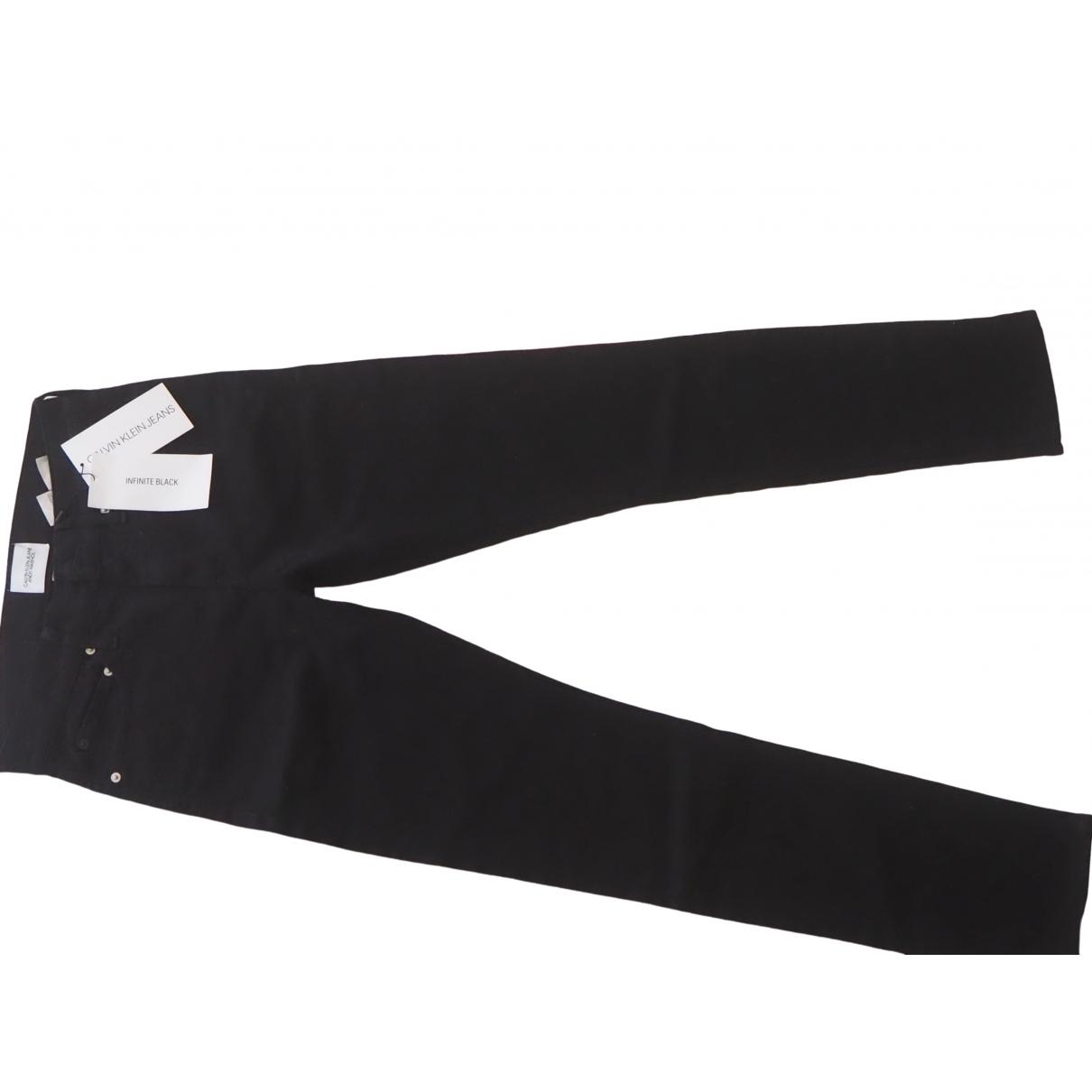 Calvin Klein - Jean   pour femme en denim - noir