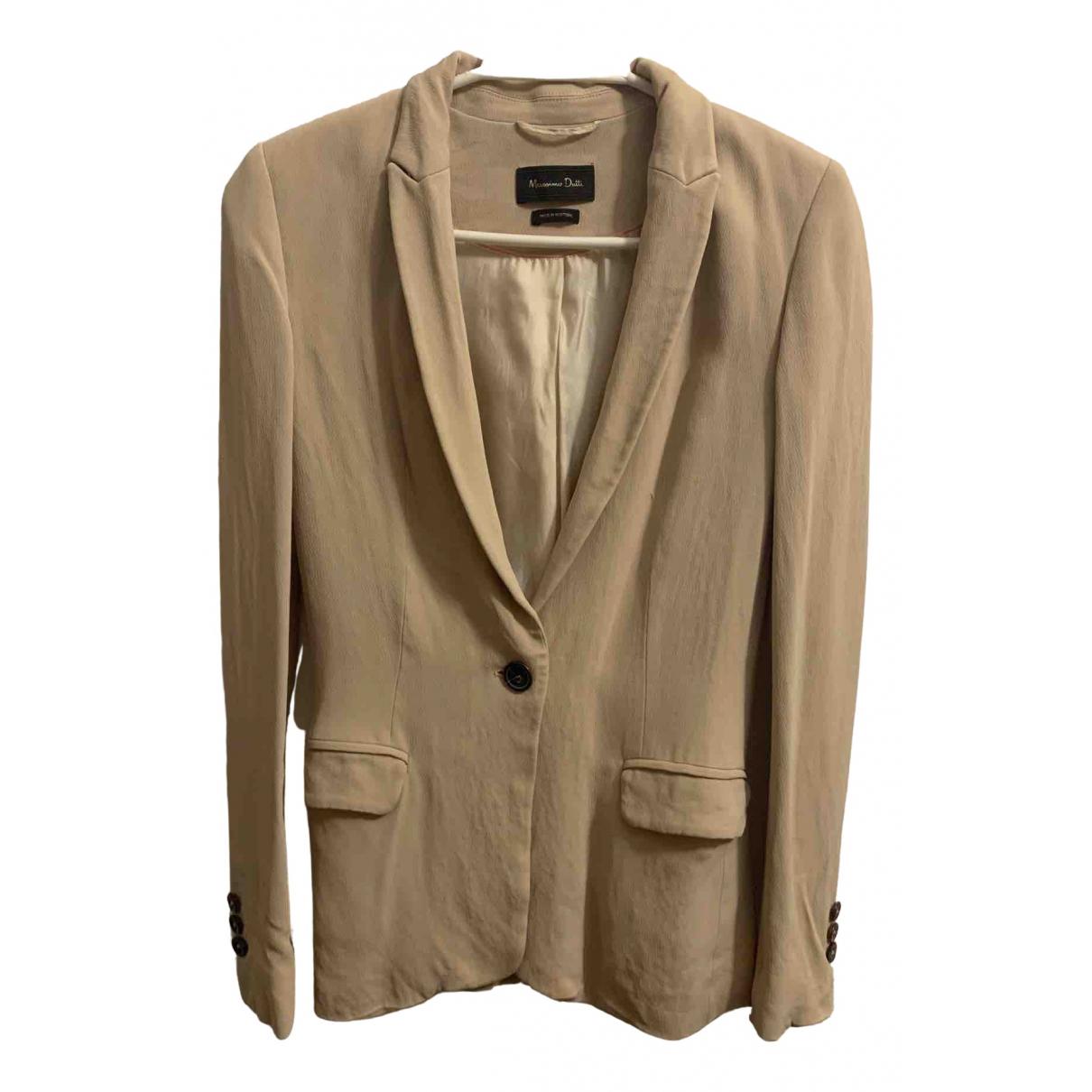 Massimo Dutti \N Ecru jacket for Women XS International