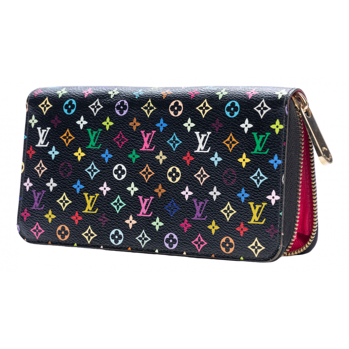 Louis Vuitton Zippy Portemonnaie in  Bunt Leinen