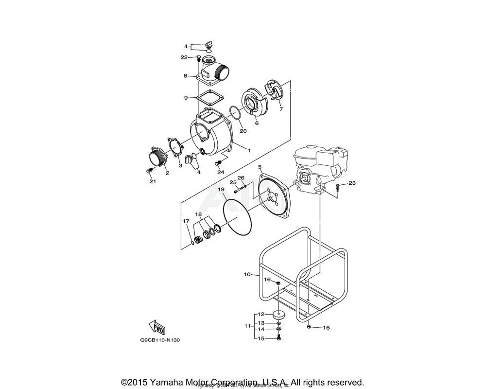 Yamaha OEM YJA-01284-79-01 BASE ASSY