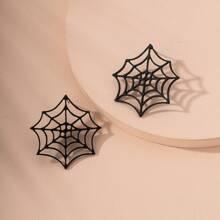 Ohrstecker mit Spinnennetz Design