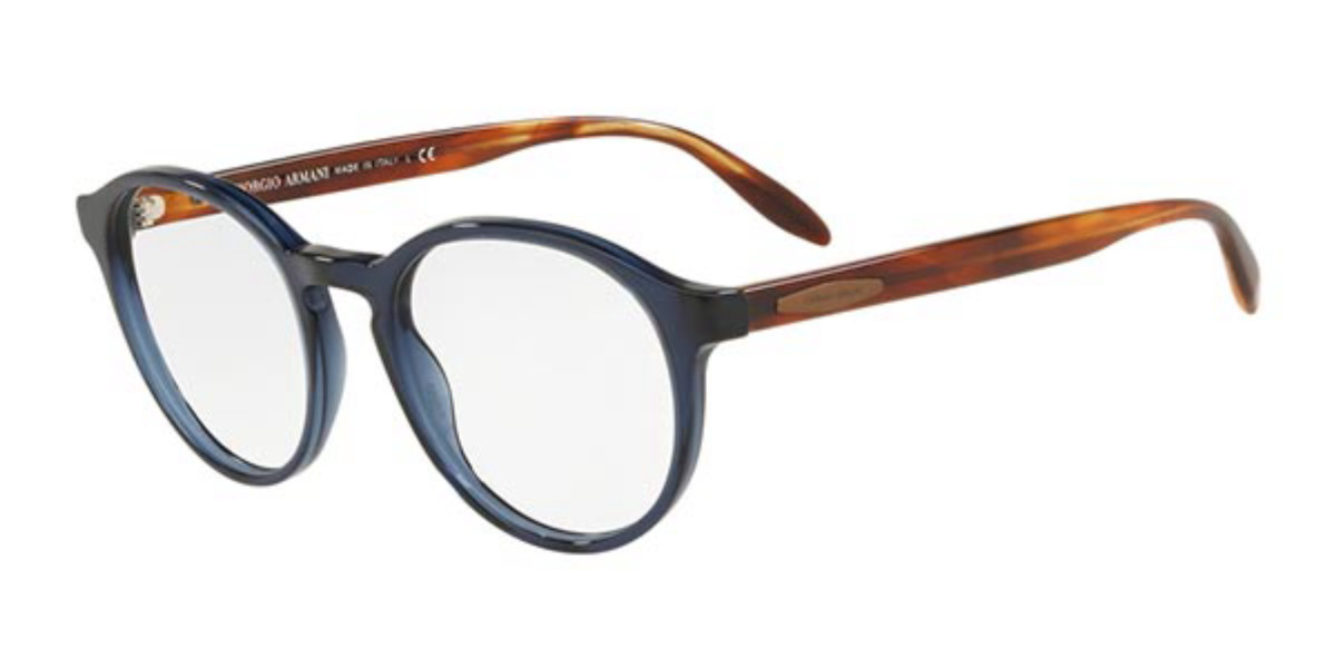 Giorgio Armani AR7162 5358 Men's Glasses Blue Size 49 - Free Lenses - HSA/FSA Insurance - Blue Light Block Available