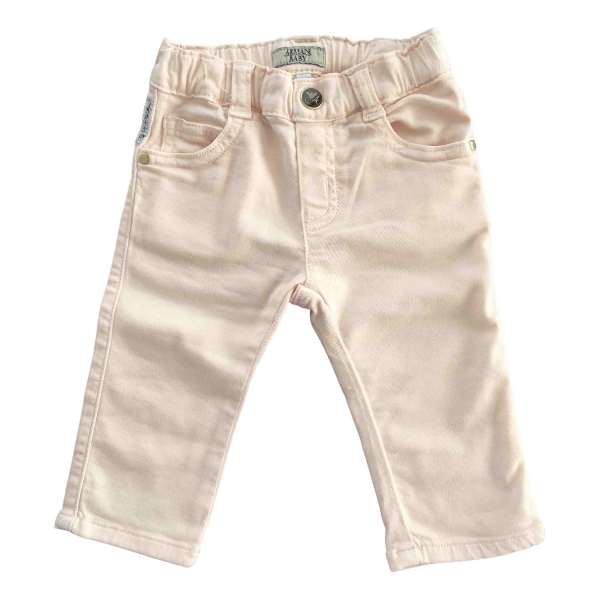 Armani Baby - Pantalon   pour enfant en coton - rose