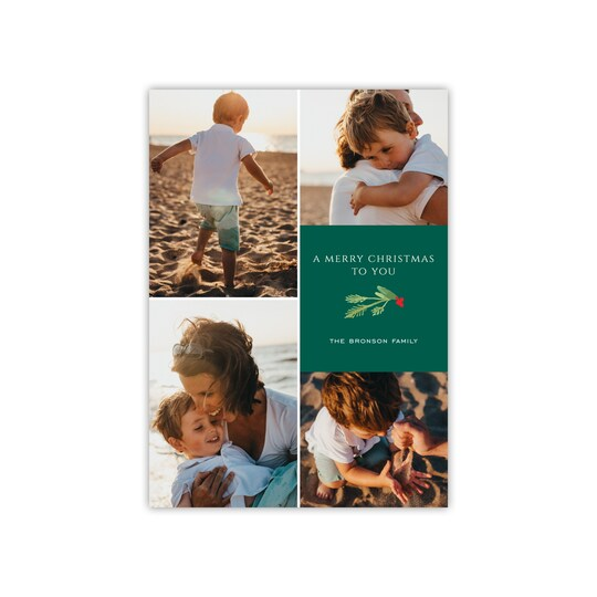 Gartner Studios® Personalized Dainty Sprig Flat Holiday Photo Card in Red   Michaels®