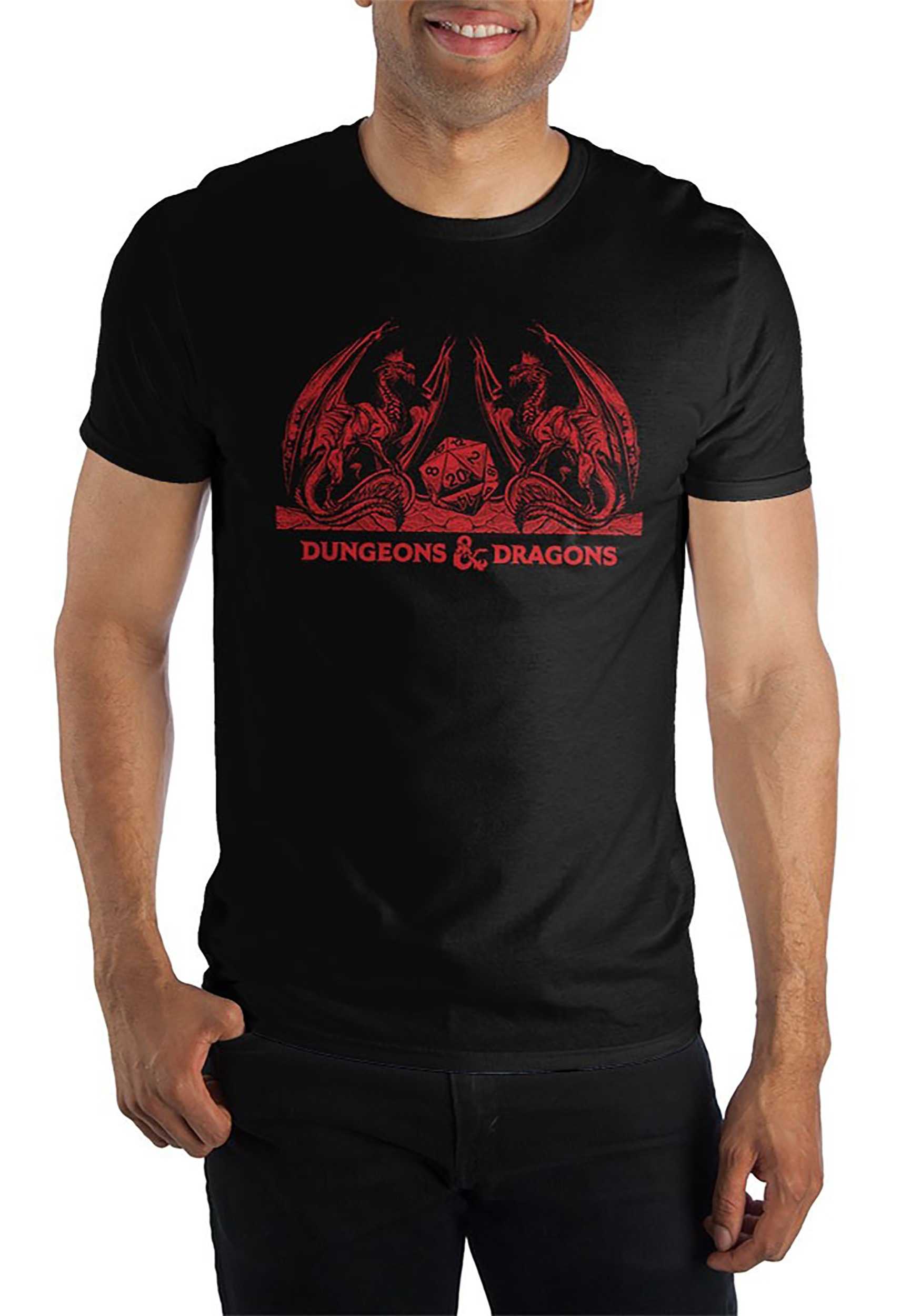 Dungeons and Dragons Mens Black/Red T-Shirt