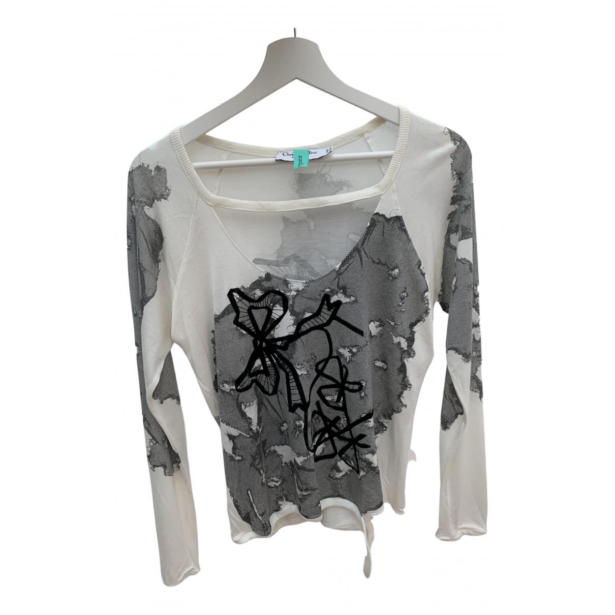 Dior \N White Silk  top for Women 42 FR