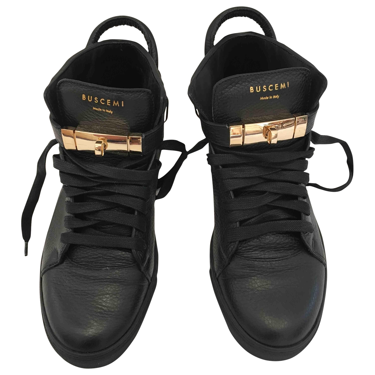 Buscemi - Baskets   pour femme en cuir - noir
