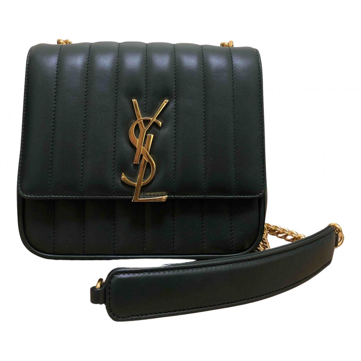 Saint Laurent Vicky Green Leather handbag for Women N