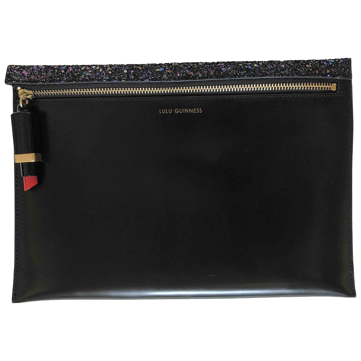 Lulu Guinness \N Clutch in  Schwarz Leder