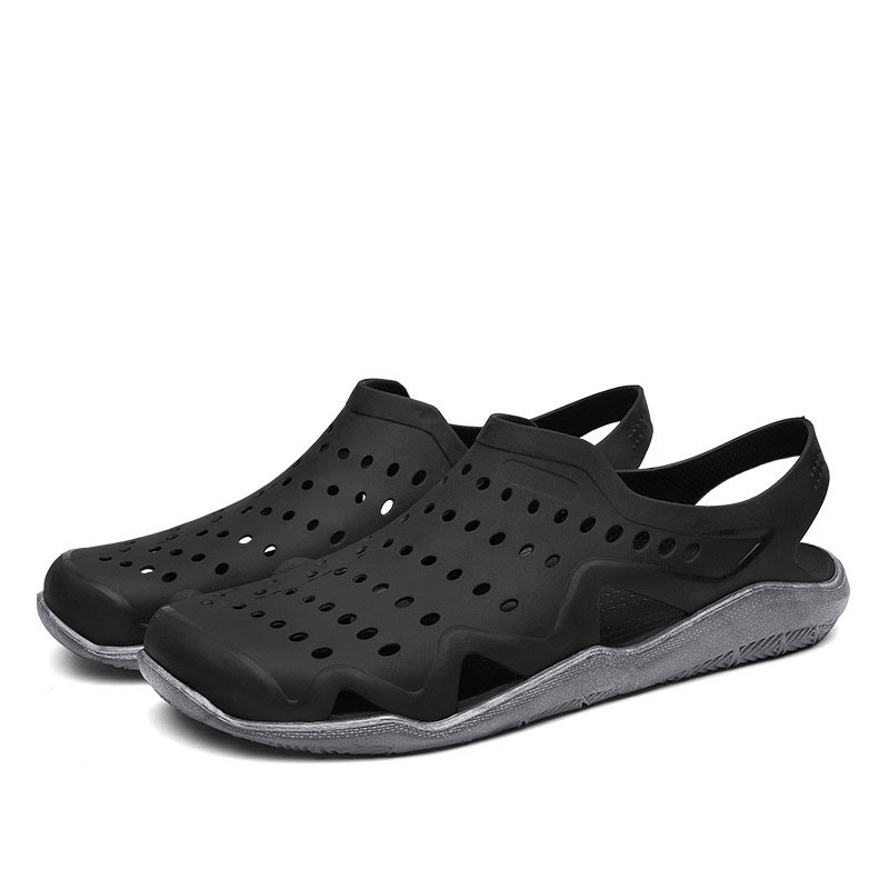 Ericdress Simple Hollow Slip-On Color Block Men's Sandals