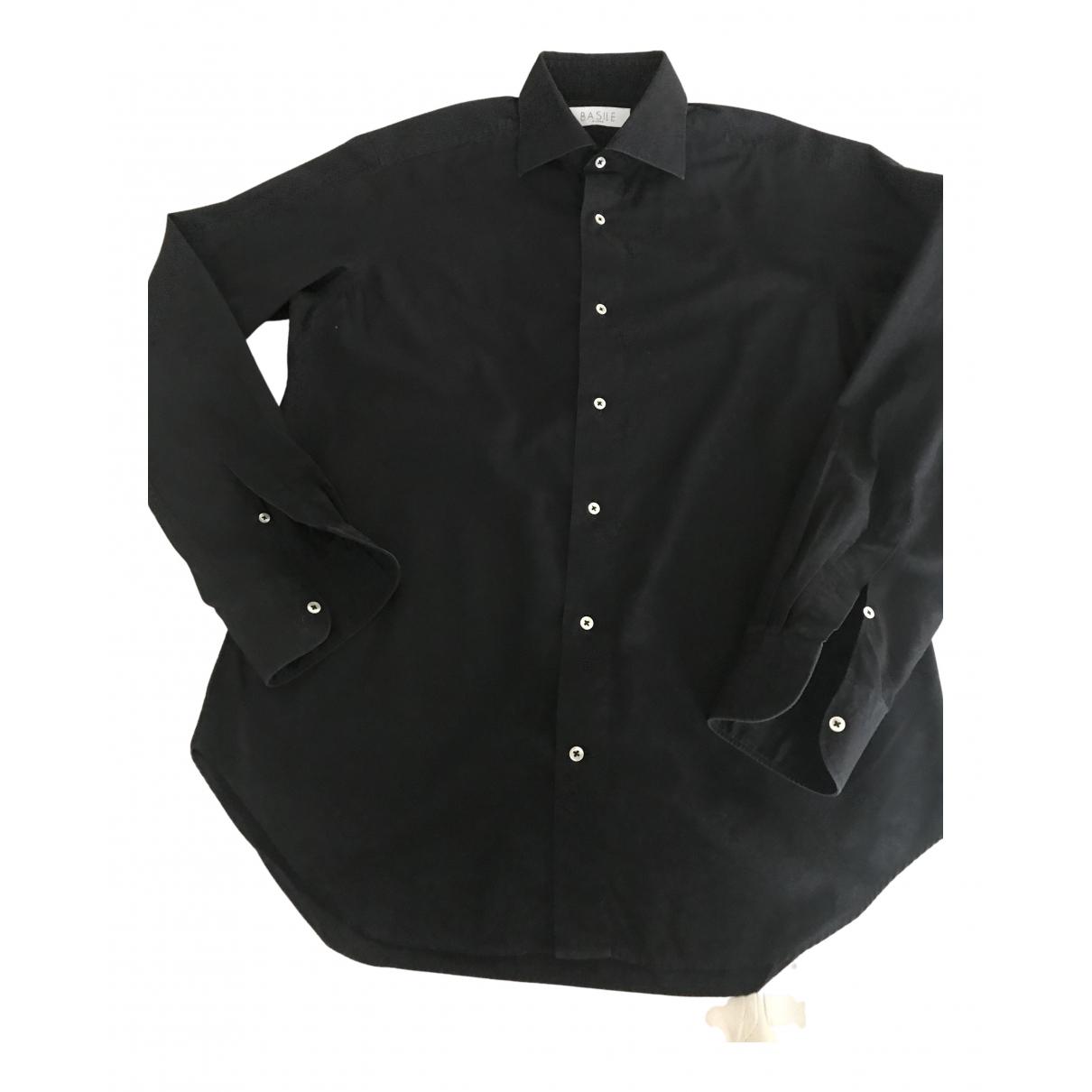 Basile - Chemises   pour homme en coton - noir