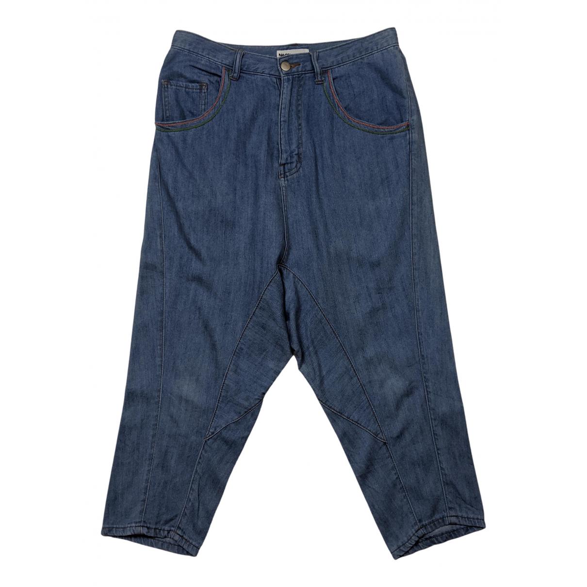 Ne.net - Jean   pour femme en coton - elasthane - bleu