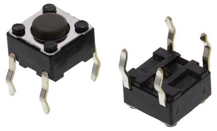 Alps Alpine Grey Stem Tactile Switch, Single Pole Single Throw (SPST) 50 mA @ 12 V dc 4.3mm (20)