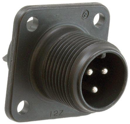 JAE Connector, 3 contacts Box Mount Socket, Solder IP67