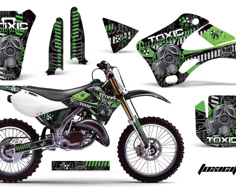 AMR Racing Dirt Bike Graphics Kit Decal Wrap For Kawasaki KX125 | KX250 1999-2002áTOXIC GREEN BLACK