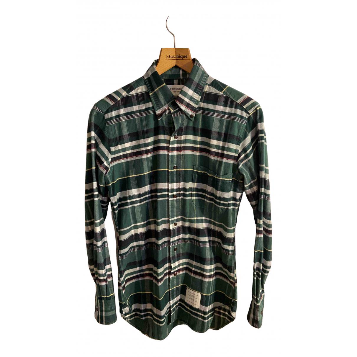 Thom Browne N Green Cotton Shirts for Men M International