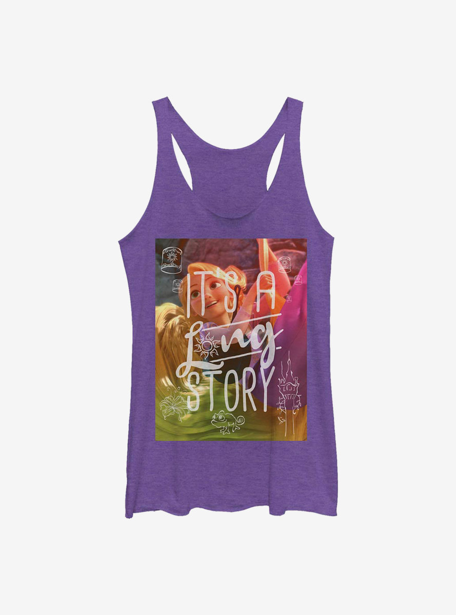 Disney Tangled Long Story Womens Tank Top