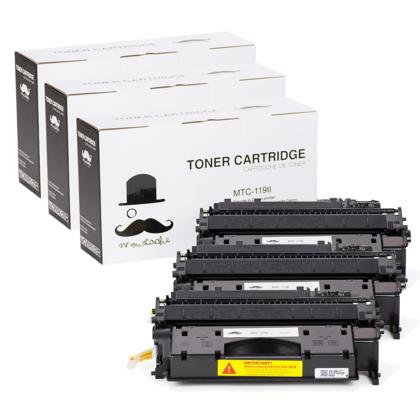 Compatible Canon 119 II Black Toner Cartridge High Yield (119X 3480B001) - Moustache - 3/Pack