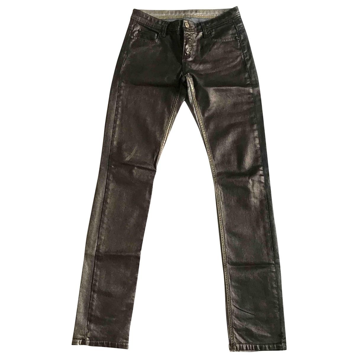 Faith Connexion \N Gold Denim - Jeans Trousers for Women 36 IT