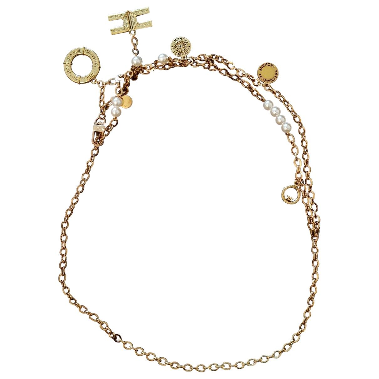 Elisabetta Franchi N Gold belt for Women M International