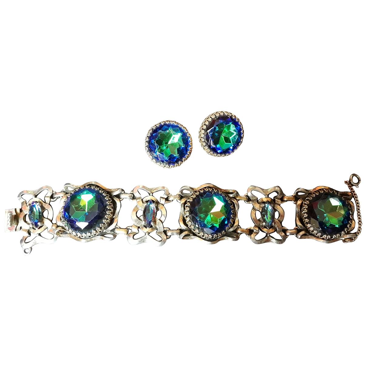 Schiaparelli \N Schmuck-set in  Blau Metall
