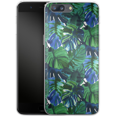 OnePlus 5 Silikon Handyhuelle - Welcome to the Jungle Palm Deep von Amy Sia