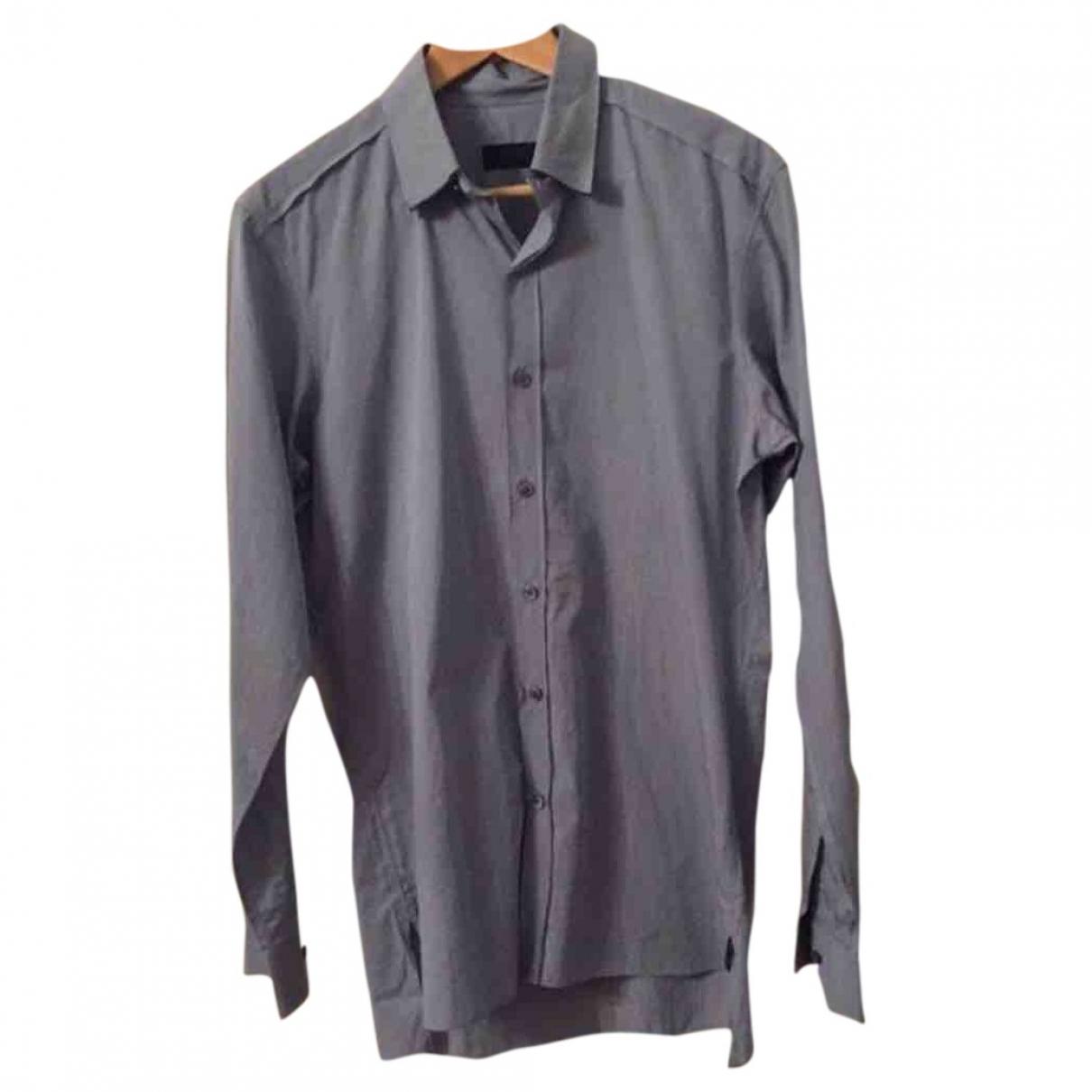 Lanvin \N Blue Cotton Shirts for Men 38 EU (tour de cou / collar)