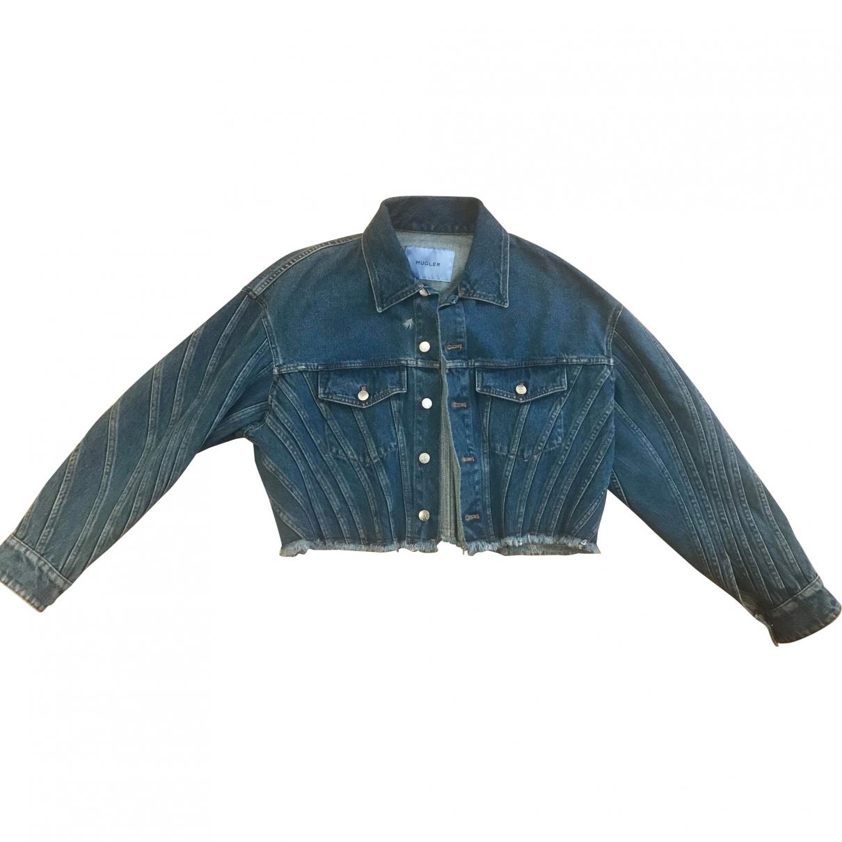 Mugler \N Jacke in  Blau Denim - Jeans