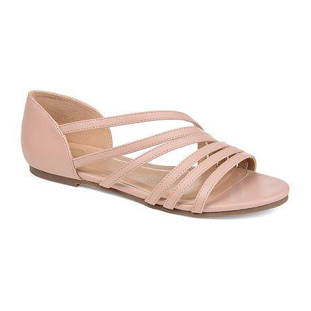 Journee Collection Womens Divina Strap Sandals, 11 Medium, Pink