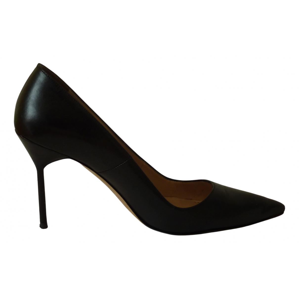 Manolo Blahnik - Escarpins   pour femme en cuir - noir