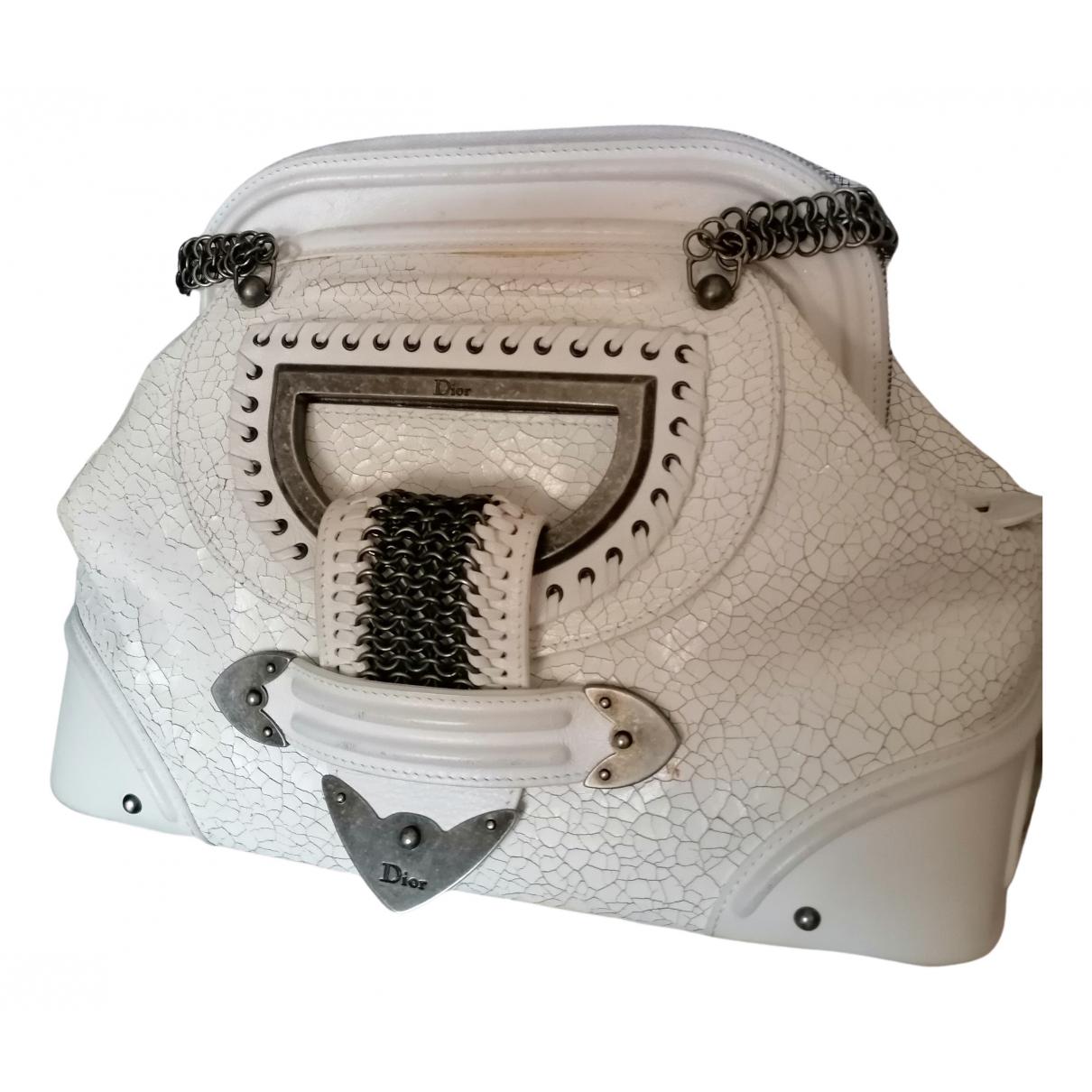 Dior \N Handtasche in  Weiss Leder