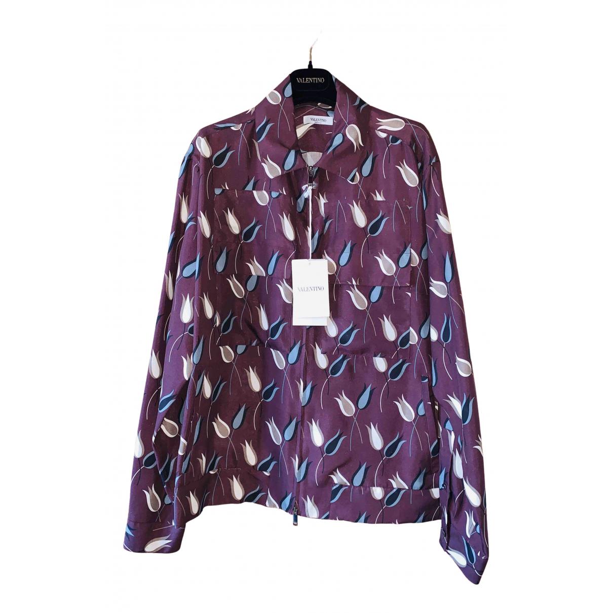 Valentino Garavani - Chemises   pour homme en soie - violet